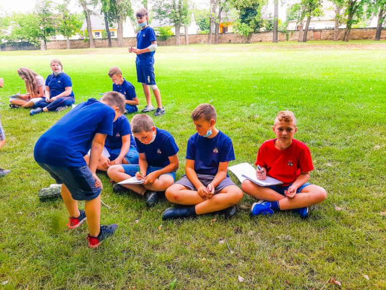 running dictation with cricket session